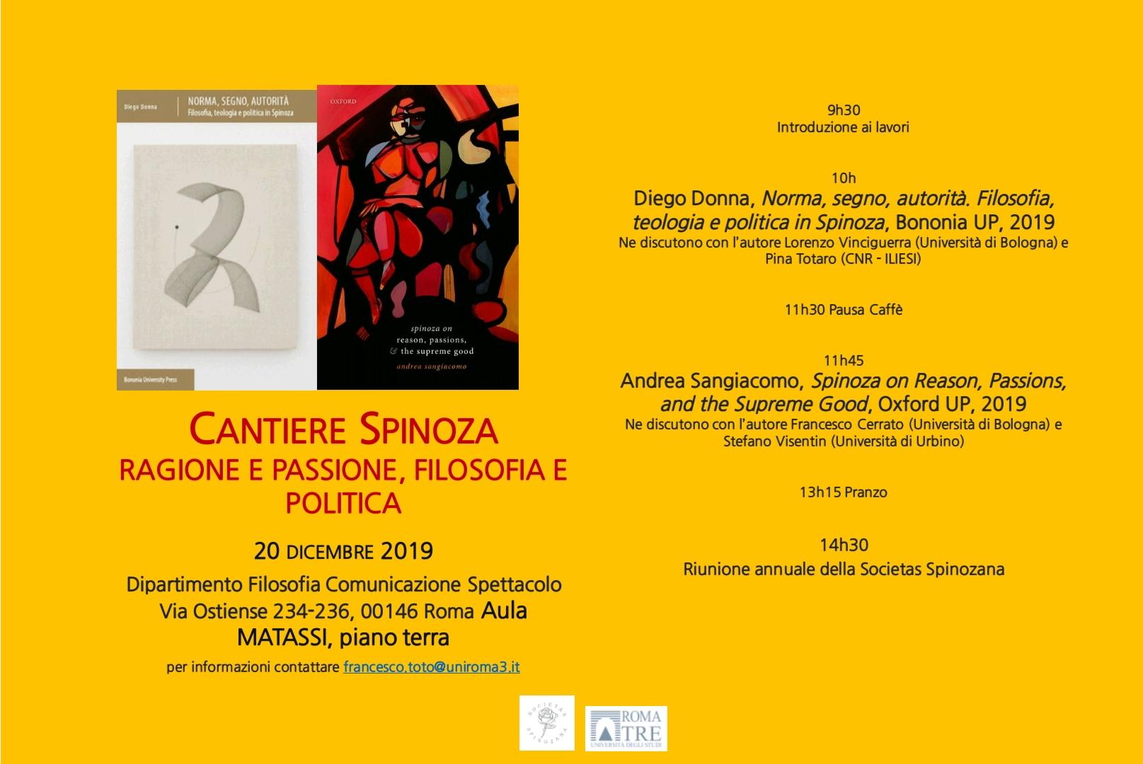 Seconda riunione annuale della Societas Spinozana