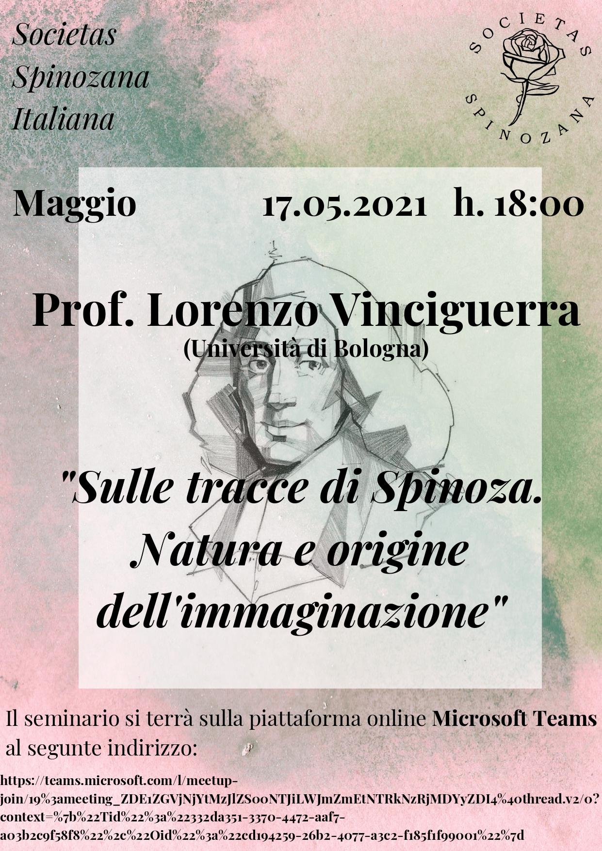 Racconti Spinoziani – Prof. Lorenzo Vinciguerra