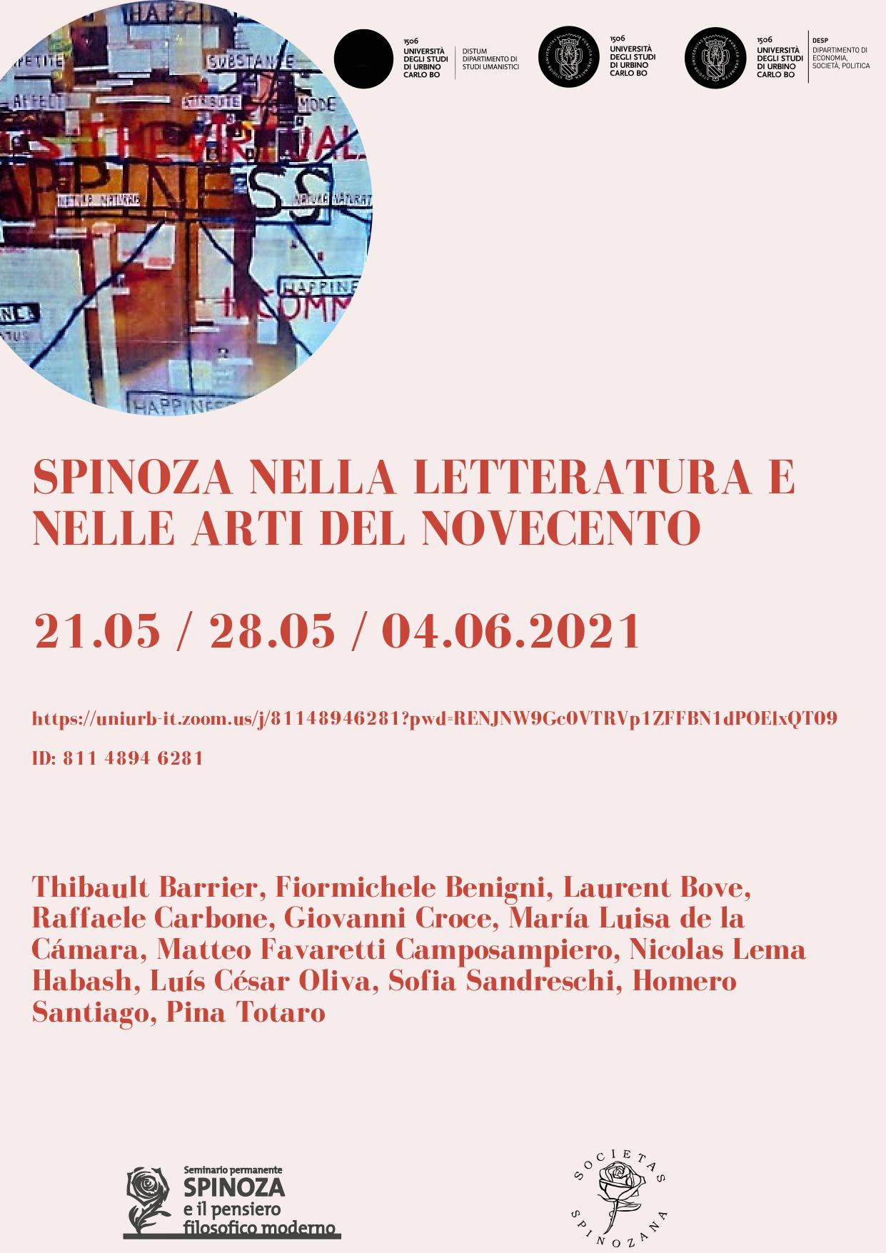 Spinoza nella letteratura del Novecento