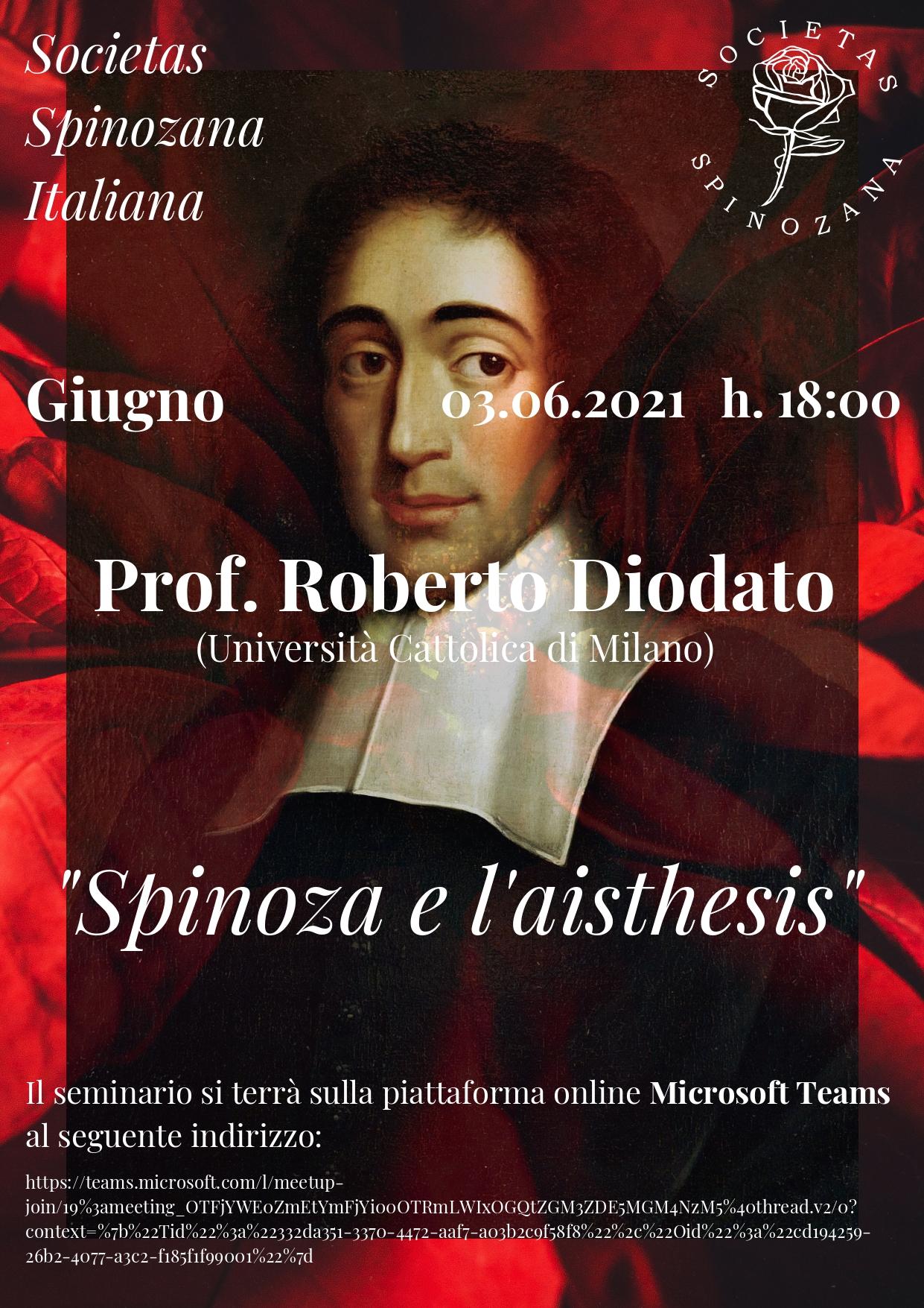 Racconti Spinoziani – prof. Roberto Diodato